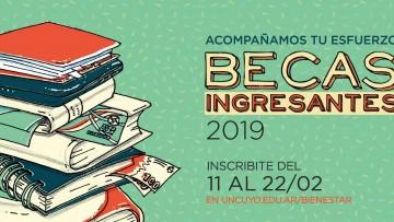 Abre la convocatoria a las becas para ingresantes 2019