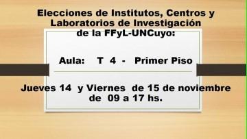 Elecciones de Institutos, Centros y Laboratorios de Investigación
