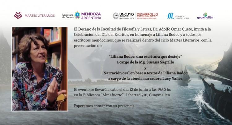 Homenajearán a Liliana Bodoc por el Día del Escritor