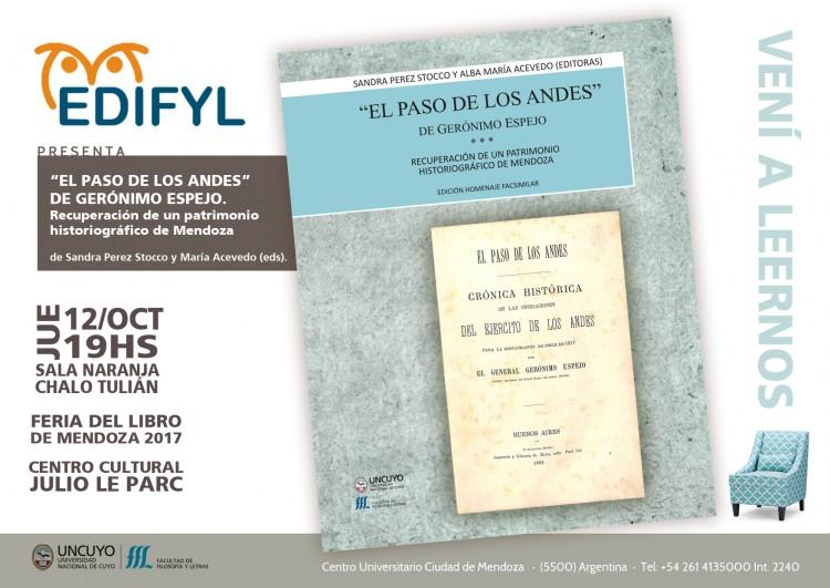 """EDIFYL presentará la obra """"El paso de los Andes"""""""