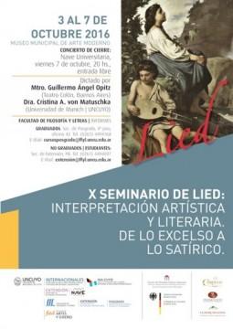 X Seminario de Lied (2016)