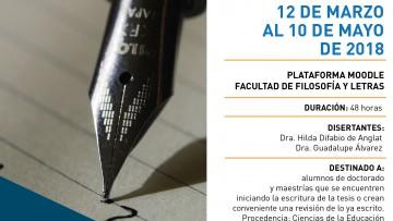 """Taller virtual """"Estrategias para la producción conceptual y escrita en el posgrado en Ciencias Sociales y Humanas"""""""