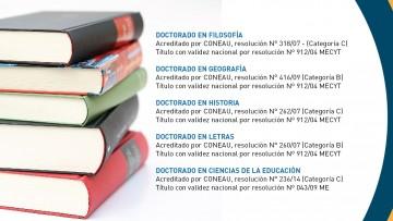 Inscripciones abiertas para las carreras de Doctorado