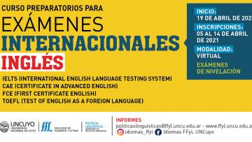INSCRIPCIONES ABIERTAS. Cursos preparatorios para exámenes internacionales de Inglés