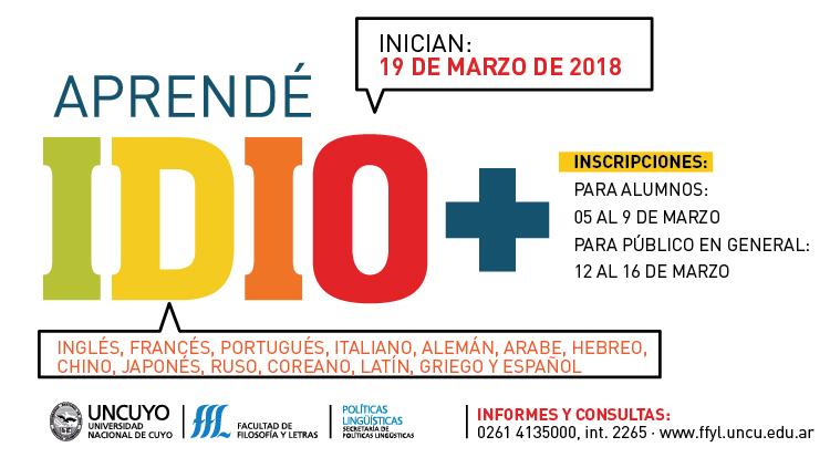 Inscripciones abiertas para aprender idiomas en el 2018