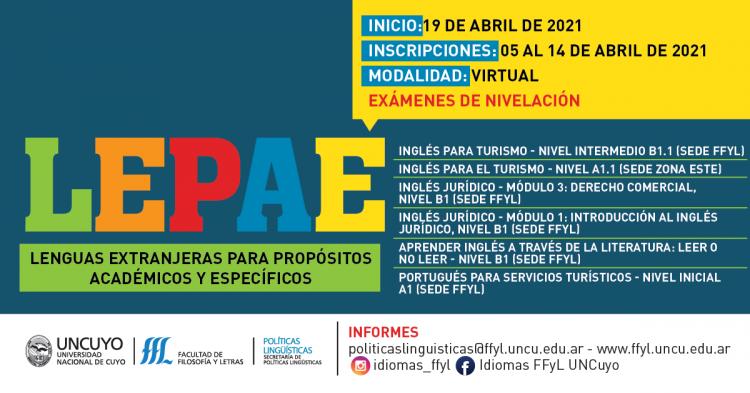 INSCRIPCIONES ABIERTAS Ofrecen cursos sobre lenguas extranjeras para propósitos académicos y específicos