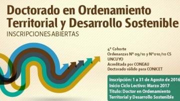 Formarán doctores en Ordenamiento Territorial y Desarrollo Sostenible