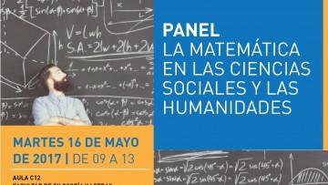 Realizarán panel sobre la matemática en las Ciencias Sociales y las Humanidades