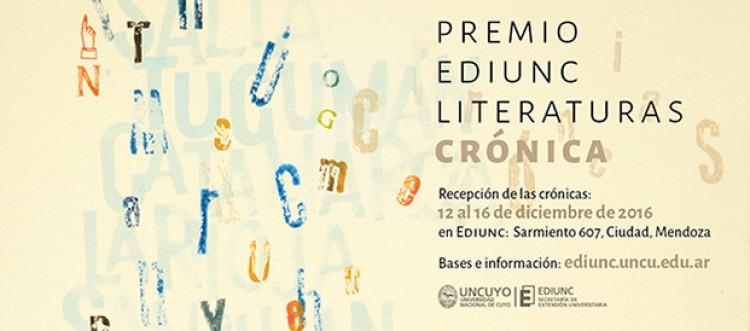 Crónicas inéditas serán el Premio Literaturas de la Ediunc