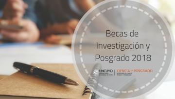 Becas SECTYP Investigación y Posgrado. Convocatoria 2018