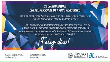 26 de Noviembre: Día del Personal de Apoyo Académico