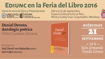 Presentación del libro Daniel Devoto. Antología Poética