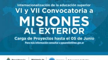 """Convocatoria abierta para """"Misiones Universitarias"""""""