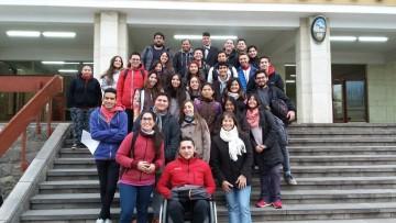 Salida a terreno de estudiantes de primer año de Geografía