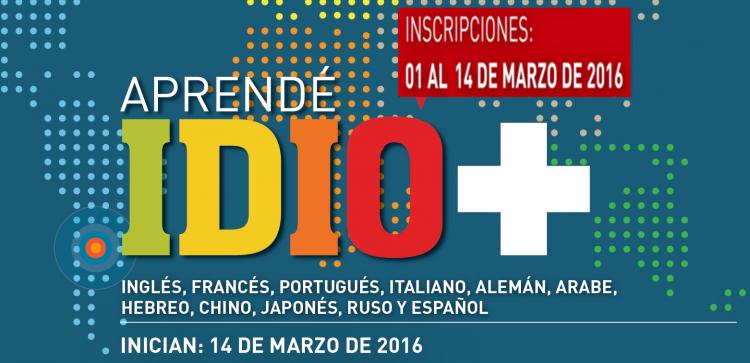 Cursos de idiomas en el 2016