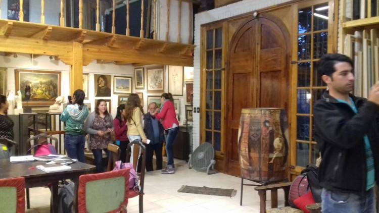 Estudiantes de Turismo visitaron el atelier del artista plástico, Antonio Sarelli
