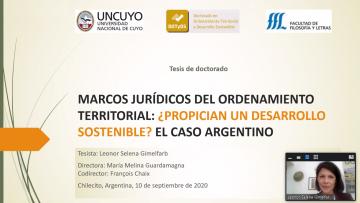 Nueva doctora en Ordenamiento Territorial y Desarrollo Sostenible