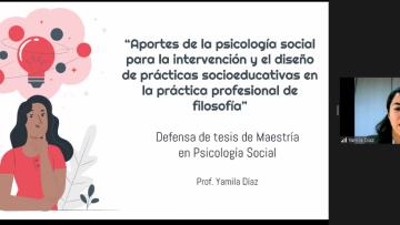Díaz: Nueva magíster en Psicología Social
