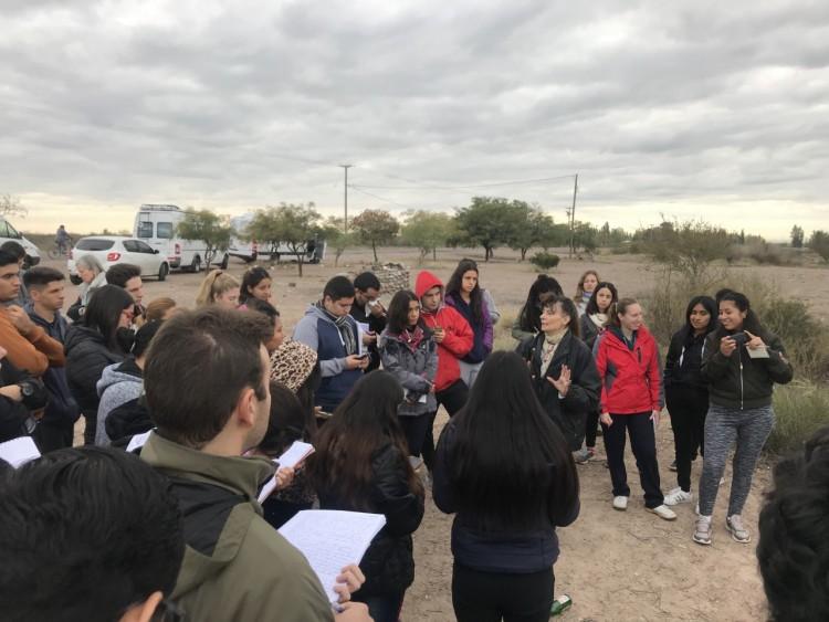 Ingresantes de Geografía realizaron su primera experiencia en el territorio