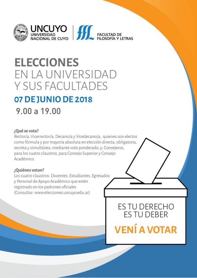 Vení a votar: volante informativo