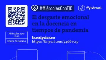 Nuevo webinar del Ciclo #MiércolesConTIC