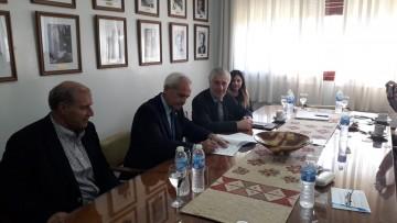 La delegación de la Universidad O'Higgins visitó la facultad