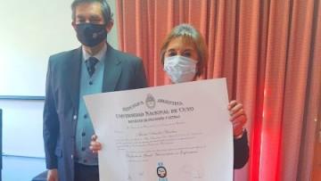Amalia Zánchez: egresada del ciclo de profesionales de la FFyL y ejemplo de esfuerzo