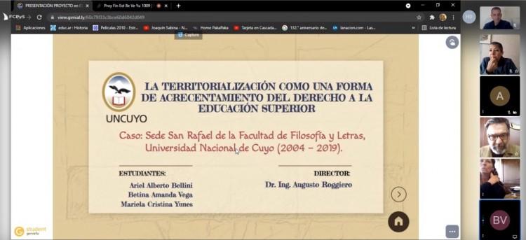 FFyL y el desarrollo de la política de Territorialización en San Rafael