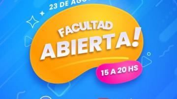 Atención aspirantes: HOY, FACULTAD ABIERTA 2021