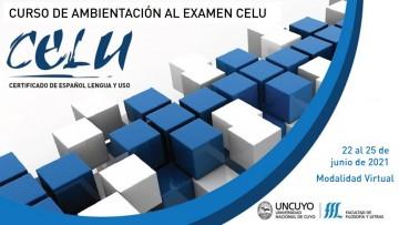 Inscriptos al Examen CELU podrán realizar curso virtual de ambientación
