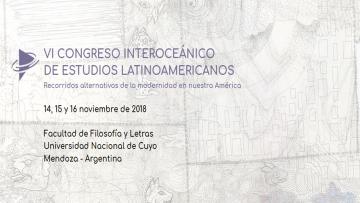 El 30 de abril es la fecha límite para presentación de Simposios del VI Congreso Interoceánico de Estudios Latinoamericanos
