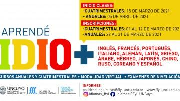 Aprendé idiomas en el 2021: inscripciones abiertas para los cursos anuales