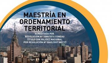 Período extraordinario de preinscripción para la Maestría en Ordenamiento Territorial