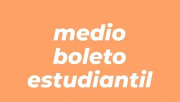 Formulario para solicitar el certificado de medio boleto estudiantil
