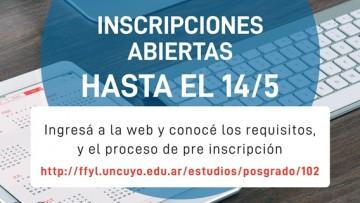 Se prorrogó la inscripción de la Especialización en Docencia Universitaria