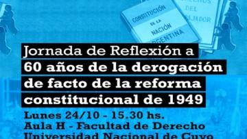 Jornada de reflexión por los 60 años de la derogación de facto de la Reforma de la Constitución de 1949