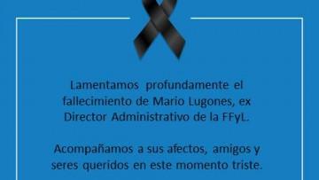 La FFyL despide a Mario Lugones