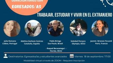 Realizarán conversatorio con egresados/as residentes en el exterior