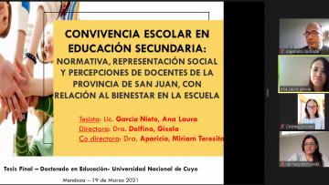 Defensa de Tesis de la nueva doctora en Educación