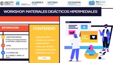 """Ya podés inscribirte en """"Workshop: Materiales Didácticos Hipermediales"""", un taller para profesores de Historia y Arqueología"""""""